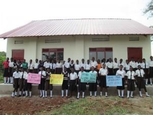 Vvumba Girls in front of dorm - July 2016