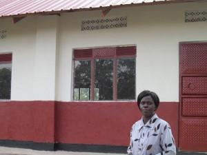 Vvumba Teacher in front of New Girls Dorm - July 2016